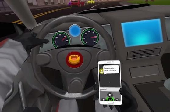 VR game 'SMS Racing' trivializes texting while driving