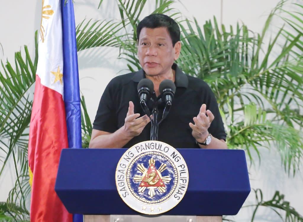 Philippine President Rodrigo Duterte likened his deadly war on crime to Hitler's efforts to exterminate Jews (AFP Photo/Manman Dejeto)