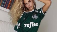 Ex de Luiz Adriano, do Palmeiras, russa aceita separação após cinco meses, mas tatua data de casamento