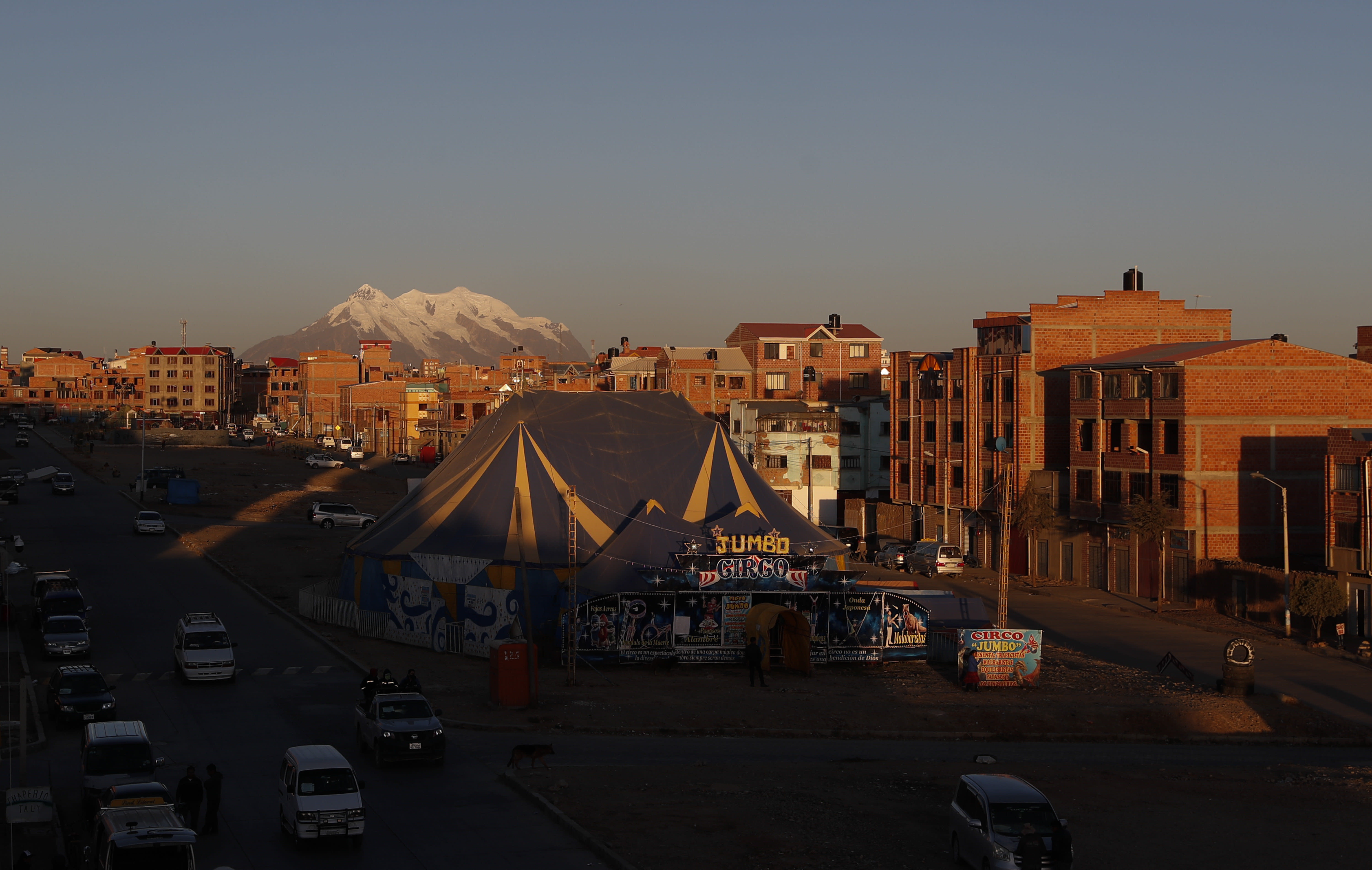 The tent of the Jumbo Circus stands as it enters its fourth month closed due to the COVID-19 lockdown in El Alto, Bolivia, Wednesday, July 1, 2020. Before the lockdown, the circus held one daily performance on weekdays and twice a day on weekends. (AP Photo/Juan Karita)