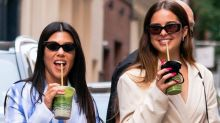 Kourtney Kardashian and Addison Rae embraced the 'no-pants' trend while walking around New York City