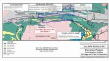 Galway Metals Intersects 10.7 g/t Au, 22.8% Zn, 423 g/t Ag, 2.8% Cu, and 2.6% Pb Over 2.7 Metres at Its Estrades Project in Quebec