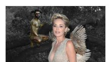 Sharon Stone Wore Wings & Posed With a Naked Ram