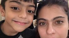 Kajol's birthday wish for her milky moustached son Yug Devgn is cute