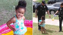 Police officers' 'wonderful act of kindness' for little girl
