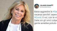 """Rita Dalla Chiesa: """"Basta aggredire la Sardegna, siete andati tutti lì perché sapevate che era 'pulita'. E ora l'avete infettata"""""""