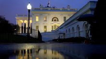 Trump's silent public outing belies White House in tumult