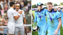 England's World Cup heroics snubbed for Federer-Djokovic epic