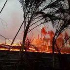 Lava Flows From Hawaii's Kilauea Volcano On the Streets of Pahoa