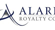 Alaris Royalty Corp. Announces Q3 2019 Earnings Release Date