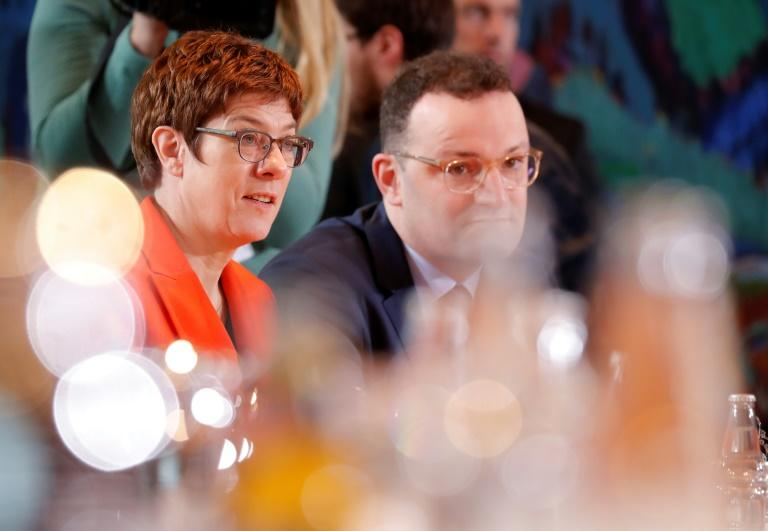 The row on the regional CDU voting alongside the AfD in Thuringia's election cost Annegret Kramp-Karrenbauer her dream of taking over from Merkel -- Health Minister Jens Spahn says their party is in crisis (AFP Photo/Odd ANDERSEN)