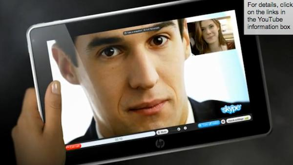 HP Slate reappears for 30 seconds, shows off camera, custom interface... and iTunes