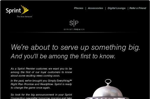 Sprint 'about to serve up something big'