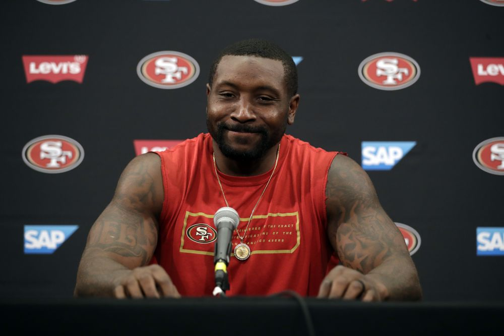 San Francisco 49ers' NaVorro Bowman is reportedly being shopped for a trade. (AP)