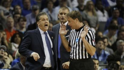 Authorities identify seven people who threatened referee after Kentucky's NCAA tourney loss