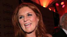 Sarah Ferguson looks incredible in sheer black dress at gala dinner in Germany