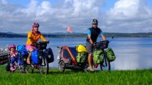 Globetrotting family brings 72,000km bicycle journey to Whitehorse