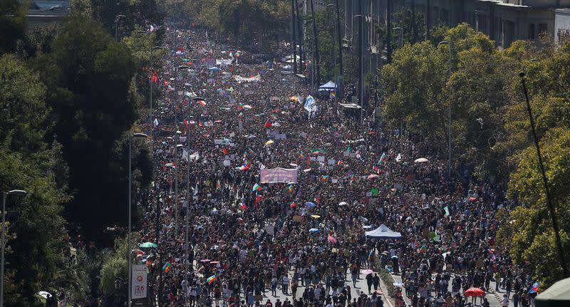 women march in Latin America