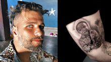 Bruno Gagliasso tatua o filho Bless no braço: 'Tive que rabiscar'