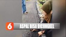 Viral Anggota DPRK Aceh Korek Aspal Pakai Tangan