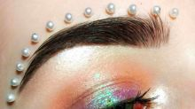 Glueing pearls to your face is the latest bizarre beauty trend