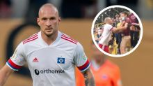Hamburg's Leistner apologises after entering stands to confront fans following DFB-Pokal loss