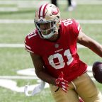 Another MetLife Stadium turf issue? 49ers tight end Jordan Reed goes back to locker room with injury