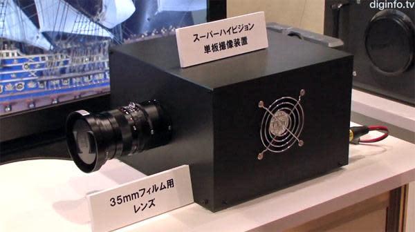 NHK develops ultra high-def camcorder with single 33 megapixel sensor (video)