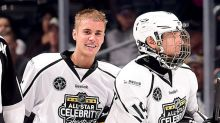 Justin Bieber's hockey skills are cooler than ice