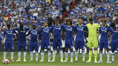 Chelsea 'forget' to wear black armbands for Manchester attack victims in FA Cup final first half against Arsenal