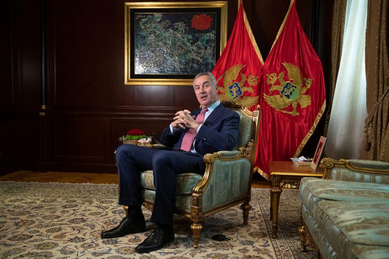 Interview with Montenegro's President Djukanovic in Podgorica