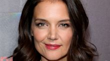 Katie Holmes Matched Her Lipstick to Her Hot Pink Bra at CinemaCon