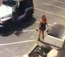Police search for woman who tossed bag of 7 live puppies into Coachella dumpster
