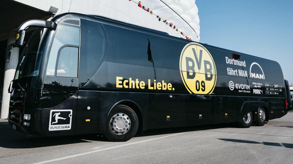 Ataque ao ônibus do Dortmund deixa um ferido e jogo da Champions League é adiado
