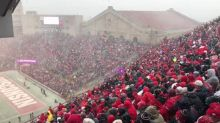 Snow Blankets College Football Game in Madison