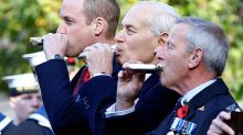 Prince William jokes his hip flask was spiked at royal visit