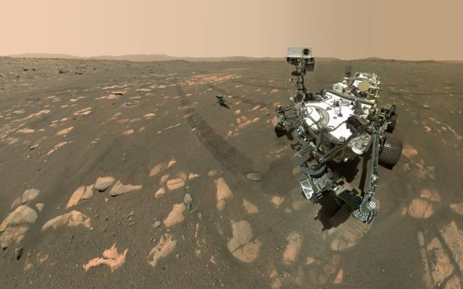 Perseverance rover selfie