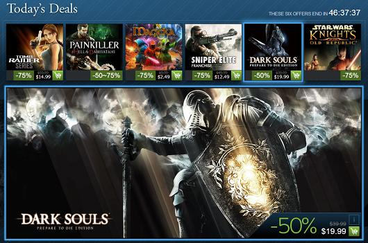 Steam Holiday Sale day 14: Dark Souls, Tomb Raider, Knights of the Old Republic