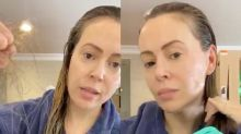 Alyssa Milano shares video allegedly showing coronavirus-related hair loss: 'Please take this seriously'