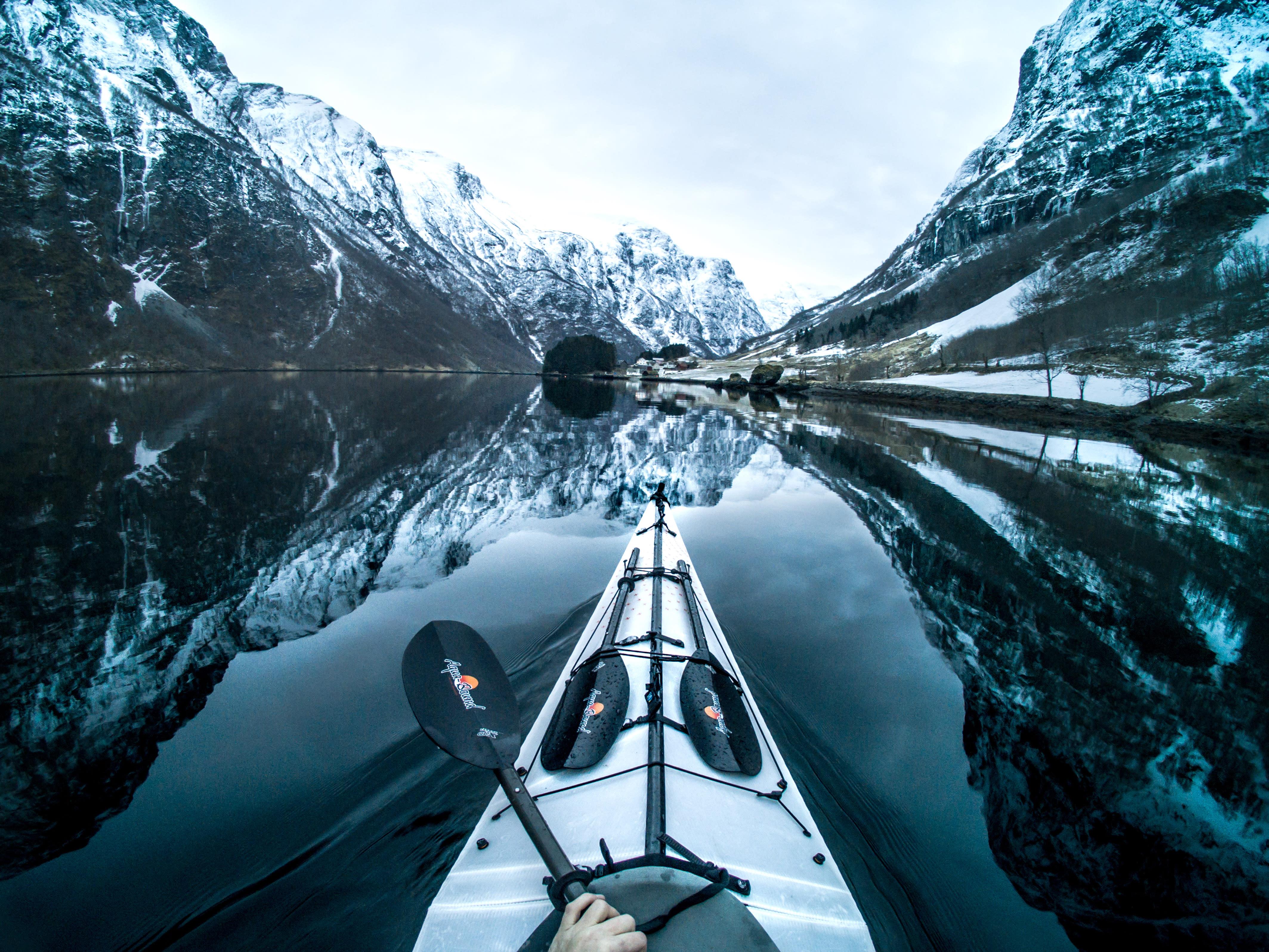 <p>Village of Bakka seen from Nryfjorden, Norway. (Photo: Tomasz Furmanek/Caters News) </p>