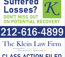 The Klein Law Firm Reminds Investors of Class Actions on Behalf of Shareholders of RLX, DKNG and PLL
