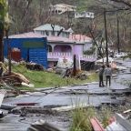 On the island of Dominica, nearly complete destruction by Hurricane Maria