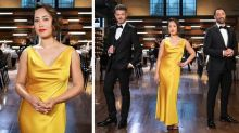MasterChef judge Melissa Leong radiant in slinky slip dress