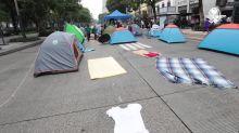 Así amaneció el plantón del frente Anti-AMLO en avenida Juárez