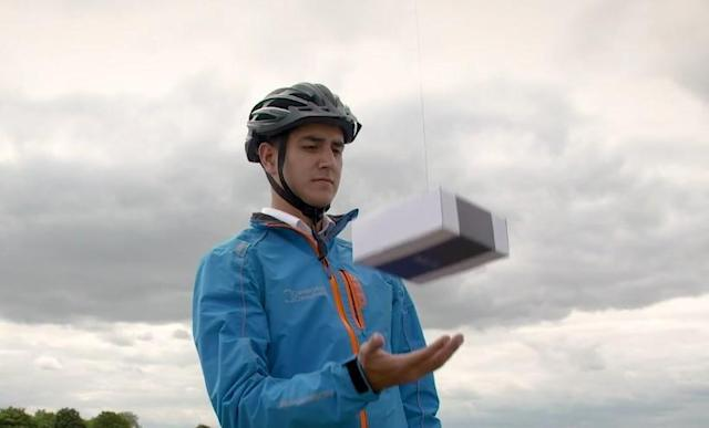 DelivAir uses drones to deliver to people, not physical addresses