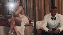 J.Lo fans wonder about Alex Rodriguez in sexy post-Grammys selfie: 'How is he on his phone with you sitting there like that'