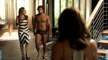 De sunga e sem falas, Hugo Moura faz primeira aparição em 'Segundo Sol': ''É uma honra de ser chamado de marido da Deborah Secco'