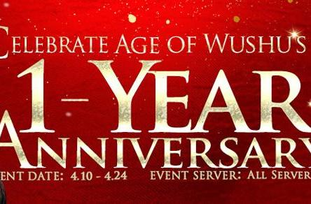 Age of Wushu celebrates anniversary with events, expansion info