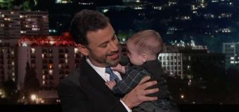 Kimmel debuts son on show with big message