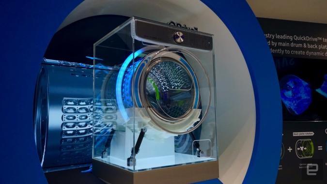Samsung's 'AI-powered' washer is just trying to save you time